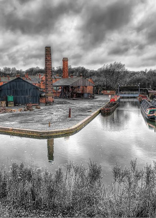 Architecture Greeting Card featuring the photograph Old Dock by Adrian Evans