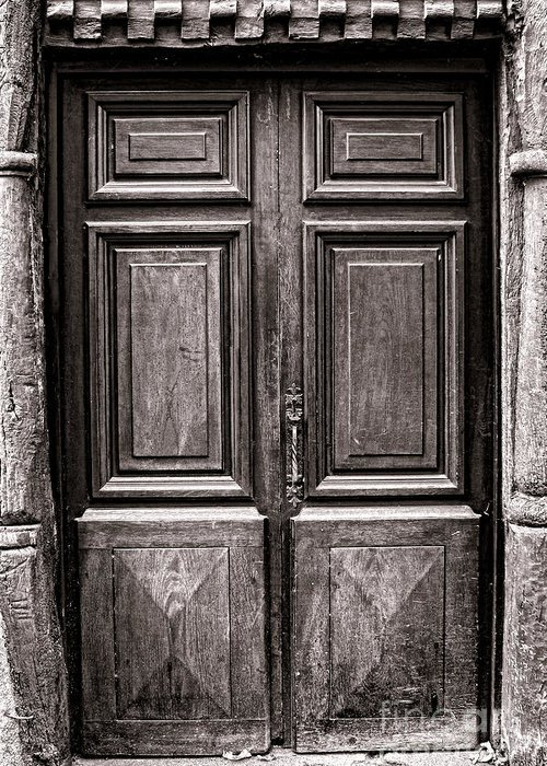 Door Greeting Card featuring the photograph Old Door by Olivier Le Queinec