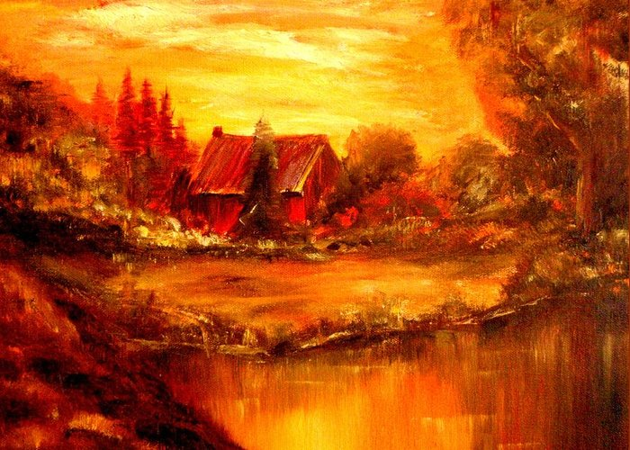 Barn Greeting Card featuring the painting Old Dutch Farm by Jeff Troeltzsch