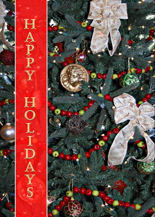 Christmas Tree Greeting Card featuring the photograph Old Fashioned Christmas by Carolyn Marshall