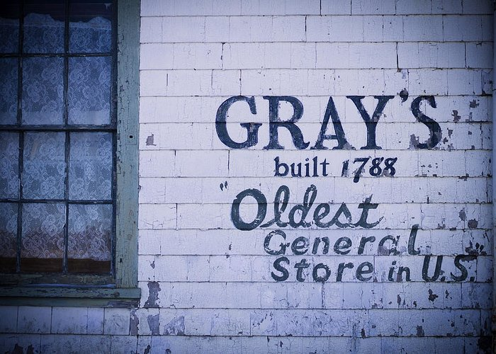 Abandoned Greeting Card featuring the photograph Old Fashioned General Store Abandoned by Amanda Devitt