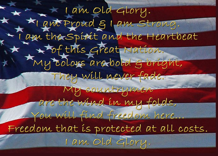 Veteran Greeting Card featuring the photograph Old Glory by Robyn Stacey