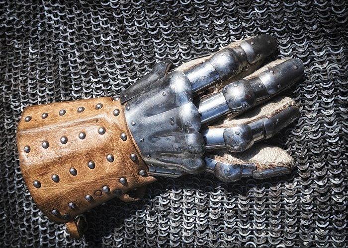 Glove Greeting Card featuring the photograph Old Glove Of A Medieval Knight by Matthias Hauser