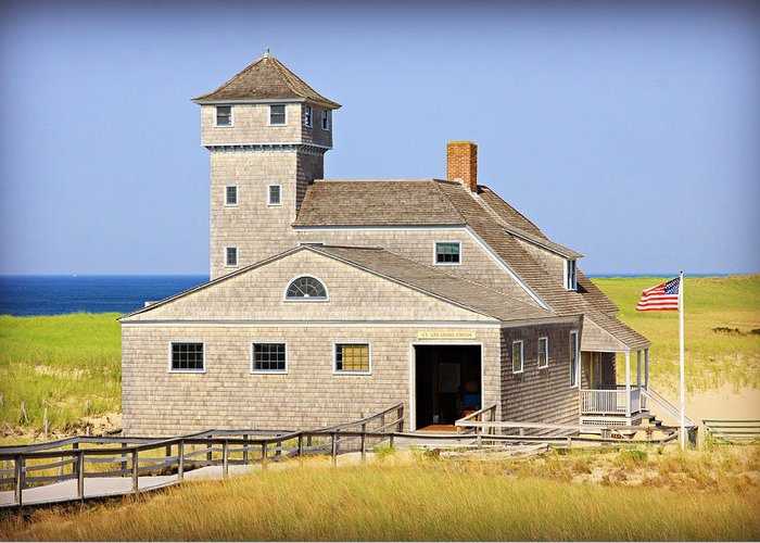 Cape Cod Greeting Card featuring the photograph Old Harbor Lifesaving Station--cape Cod by Stephen Stookey
