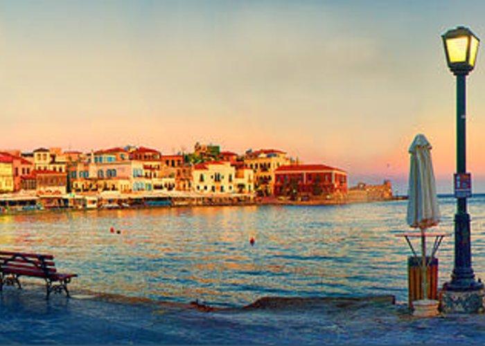 Panoramic Marina Greeting Cards