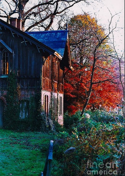 Fall Greeting Card featuring the photograph Old Home II by Simonne Mina