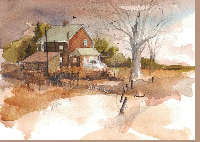 Old Home Place Greeting Card featuring the painting Old Home Place by Robert Yonke