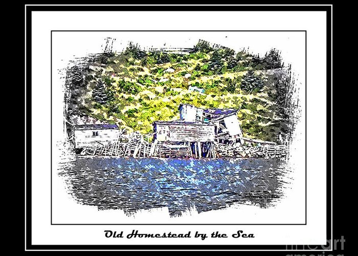 Old Homestead Greeting Card featuring the photograph Old Homestead By The Sea by Barbara Griffin
