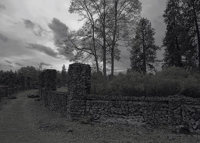 Spokane Greeting Card featuring the photograph Old Liberty Park Ruins In Spokane Washington by Daniel Hagerman