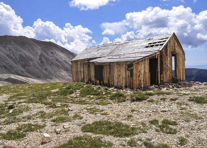 House Greeting Card featuring the photograph Old Mining House by Aaron Spong