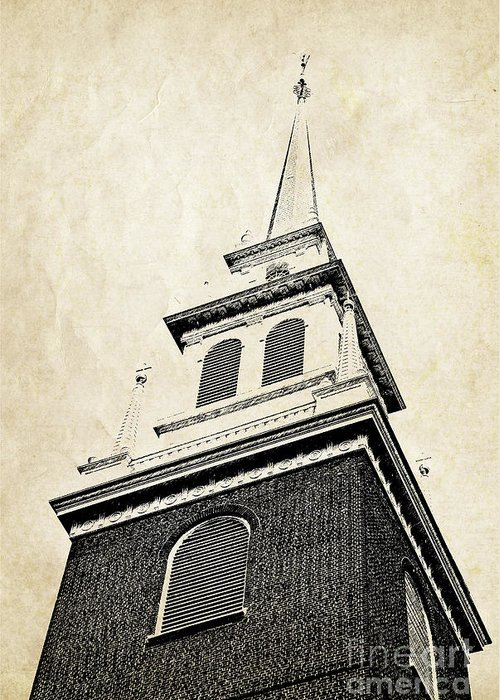 House Greeting Card featuring the photograph Old North Church In Boston by Elena Elisseeva