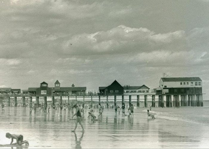 Beach Greeting Card featuring the photograph Old Orchard Beach Maine by Patrick Nadeau