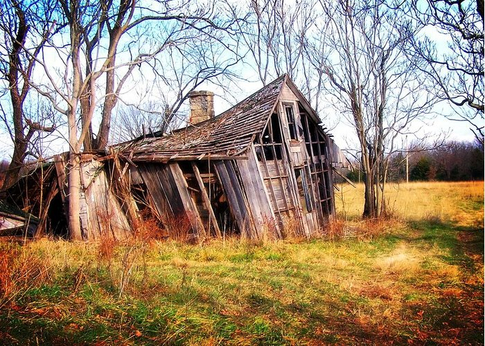 Landscape Greeting Card featuring the photograph Old Ozark Home by Marty Koch