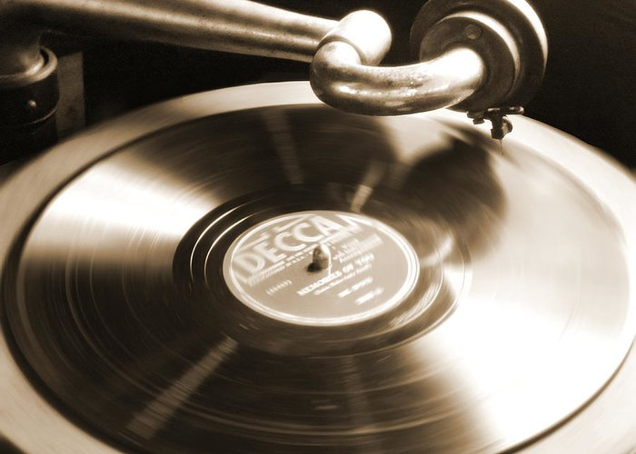 Old Phonograph Greeting Card featuring the photograph Old Phonograph by Mike McGlothlen