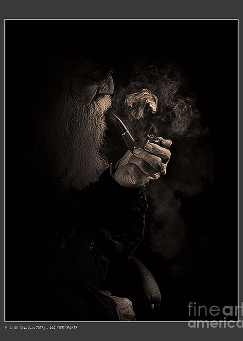 Person Greeting Card featuring the photograph Old Pipe Smoker by Pedro L Gili