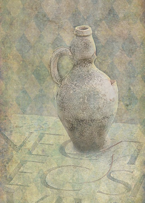 Old Greeting Card featuring the photograph Old Pitcher Abstract by Garry Gay