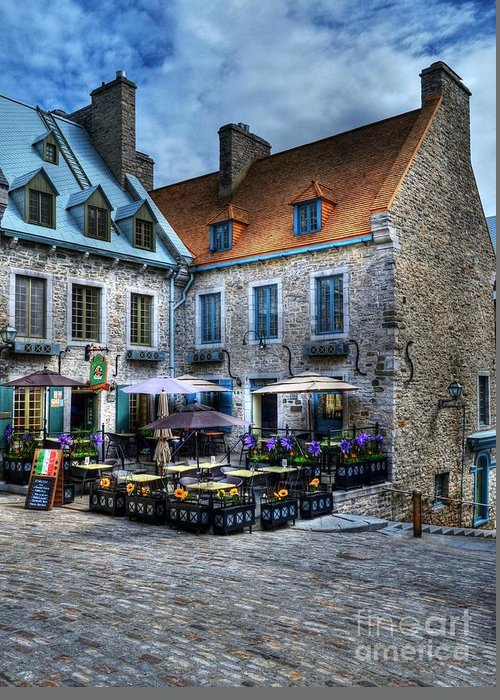 Quebec Greeting Card featuring the photograph Old Quebec City by Mel Steinhauer