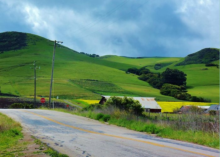 California Greeting Card featuring the photograph Old Rural Road On The Way To Heavenly Lands by Jan Moore