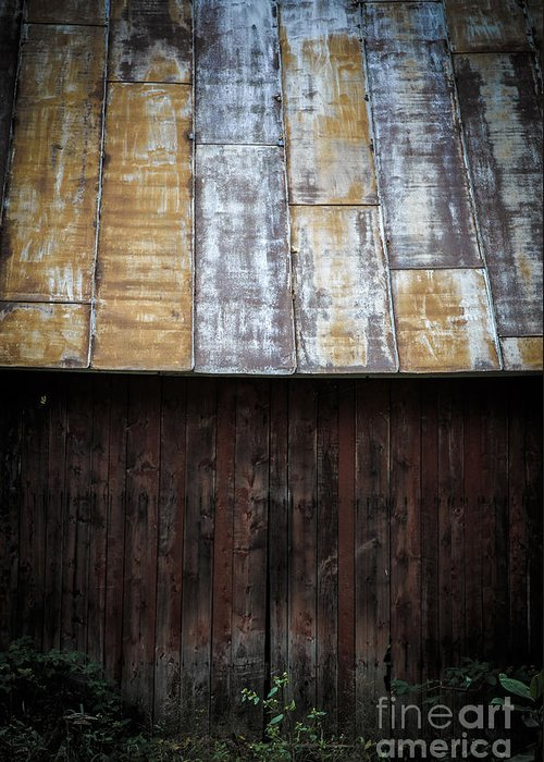Vermont Greeting Card featuring the photograph Old Rusty Tin Roof Barn by Edward Fielding