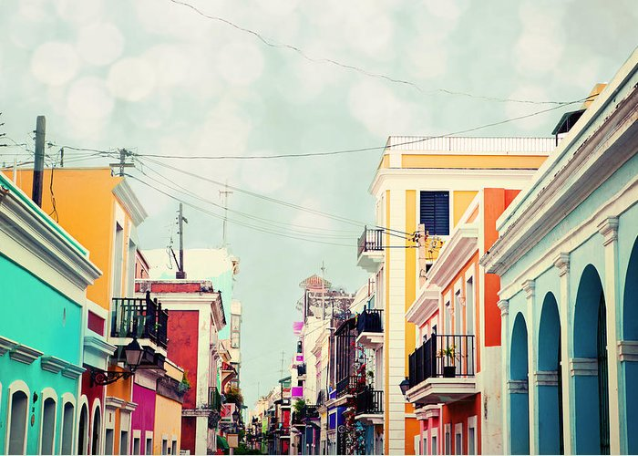 San Juan Greeting Card featuring the photograph Old San Juan Special Request by Kim Fearheiley