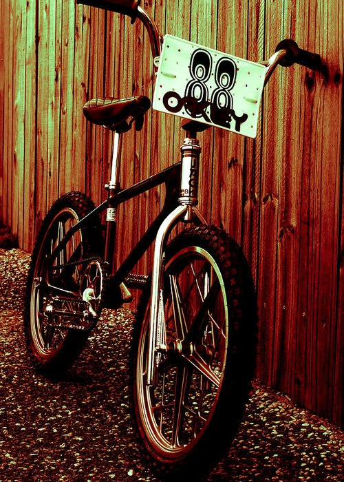 Bmx Greeting Card featuring the photograph Old School Bmx - Jag by Jamian Stayt