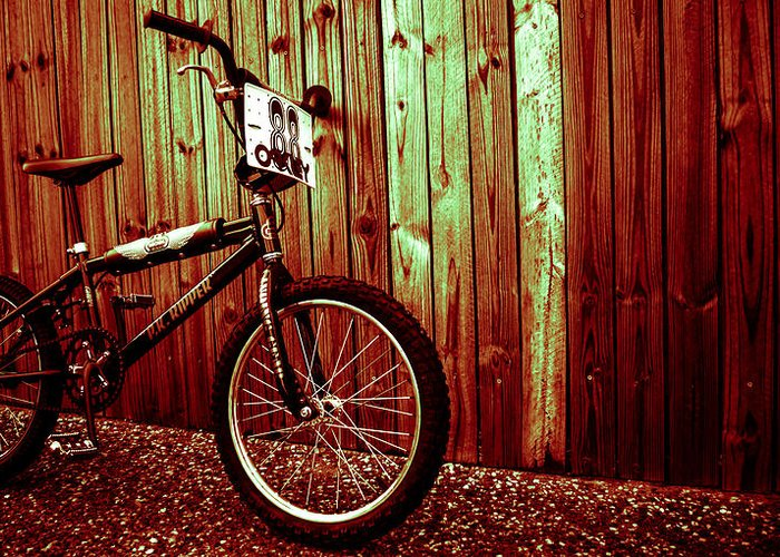 Bmx Greeting Card featuring the photograph Old School Bmx - Pk Ripper by Jamian Stayt