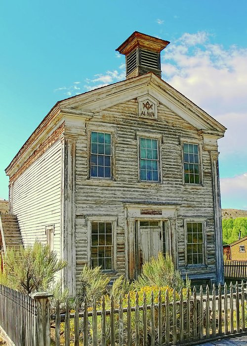 School Greeting Card featuring the photograph Old School House Bannack Ghost Town Montana by Jennie Marie Schell