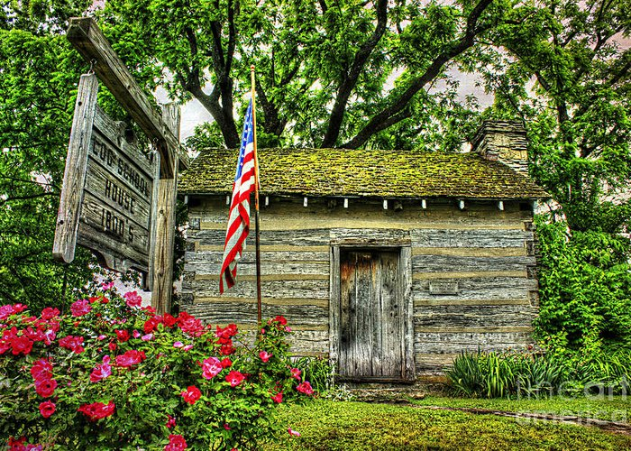 Kentucky Greeting Card featuring the photograph Old School House by Darren Fisher