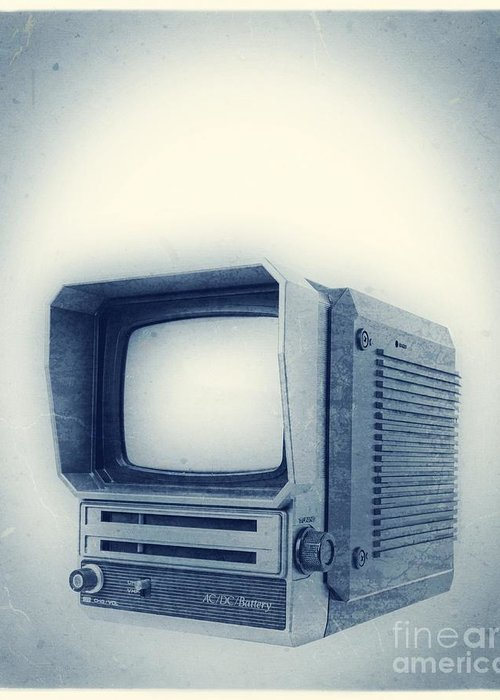 Television Greeting Card featuring the photograph Old School Television by Edward Fielding