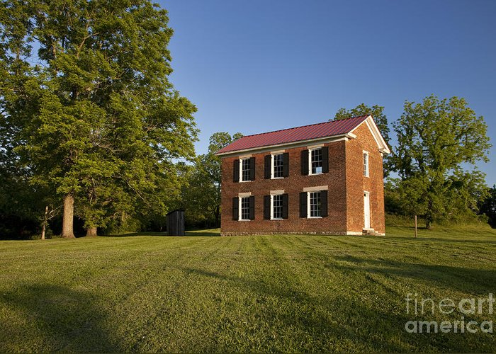 Old Schoolhouse Greeting Card featuring the photograph Old Schoolhouse by Brian Jannsen