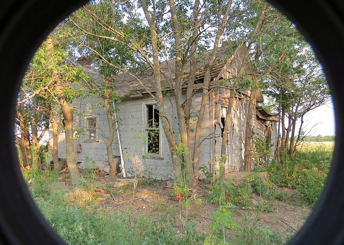 Country Greeting Card featuring the photograph Old Shack by Aaron Martens