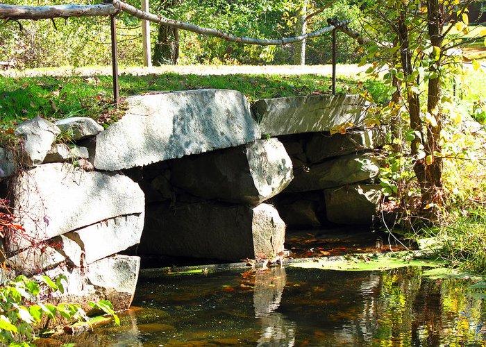 Bridge Greeting Card featuring the photograph Old Stone Bridge by Barbara McDevitt