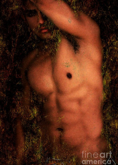 Male Nude Art Greeting Card featuring the photograph Old Story 1 by Mark Ashkenazi