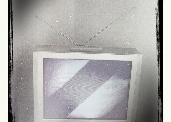 Old Tv Greeting Card featuring the photograph Old Television by Les Cunliffe