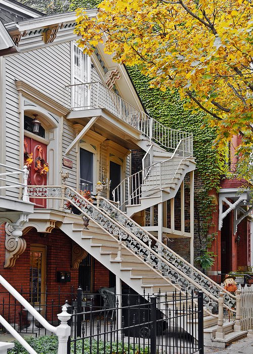 Chicago Greeting Card featuring the photograph Old Town Chicago Living by Christine Till