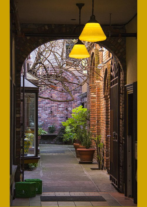 Archway Greeting Card featuring the photograph Old Town Courtyard In Victoria British Columbia by Ben and Raisa Gertsberg