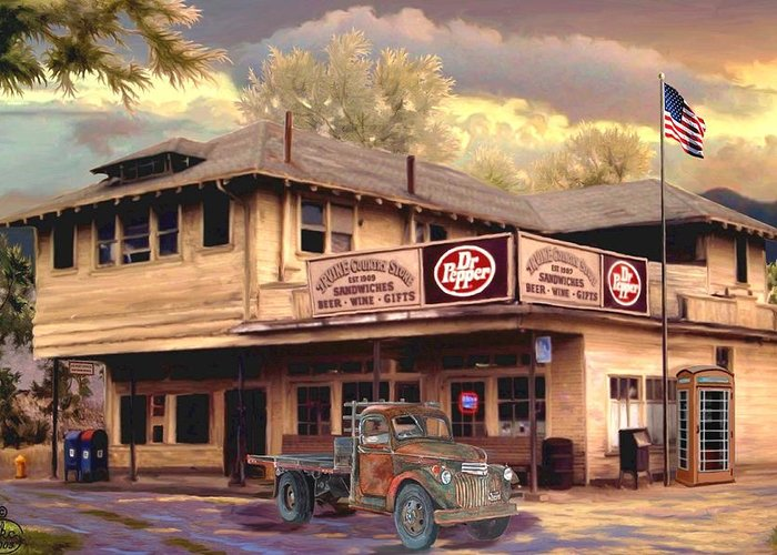 Historic Country Store Paintings Greeting Cards