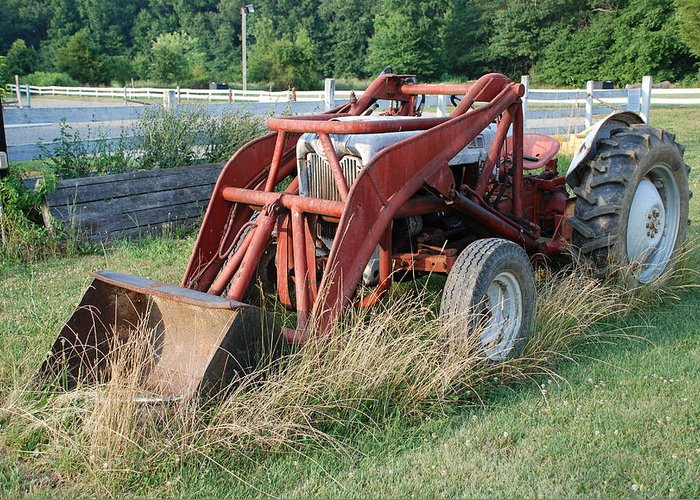 Tractor Greeting Card featuring the photograph Old Tractor by Jennifer Ancker