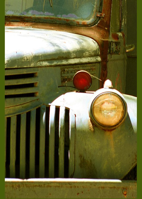 Junker Greeting Card featuring the photograph Old Truck Abstract by Ben and Raisa Gertsberg