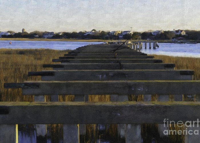 Old Pitt Street Bridge Greeting Card featuring the photograph Old Village To Sullivan's Island by Dale Powell