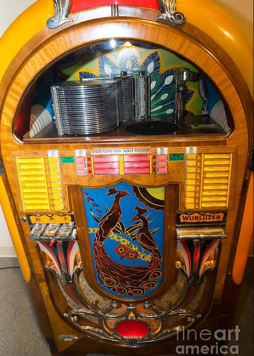 Old Vintage Wurlitzer Jukebox Dsc2782 Greeting Card