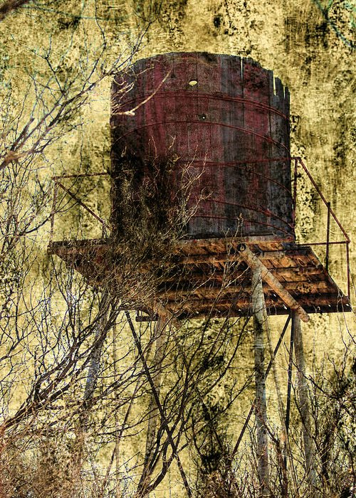Old Greeting Card featuring the photograph Old Water Tower by Stormys Unique Creations