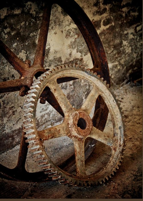 Old Wheels Greeting Card featuring the photograph Old Wheels by Odd Jeppesen