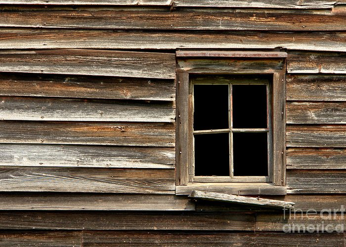 Window Greeting Card featuring the photograph Old Window And Clapboard by Olivier Le Queinec
