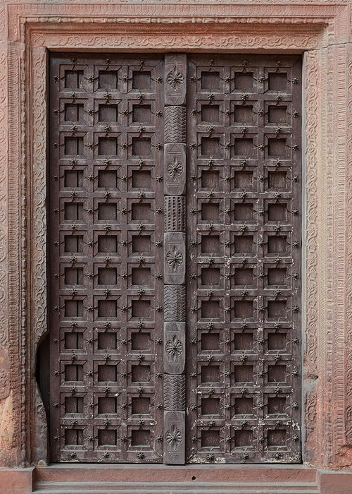 Old Wooden Door Greeting Card on
