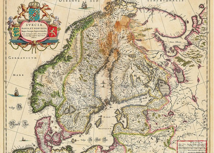 Map Of Europe For Sale.Old World Map Of Europe Greeting Card For Sale By Inspired Nature