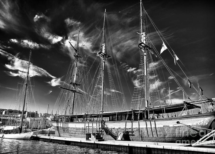 Old World Sailboat Greeting Card featuring the photograph Old World Sailboat by John Rizzuto