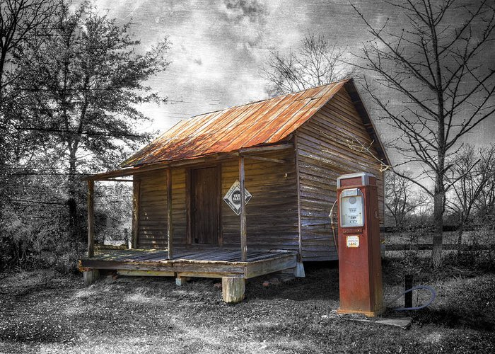 American Greeting Card featuring the photograph Olden Days by Debra and Dave Vanderlaan
