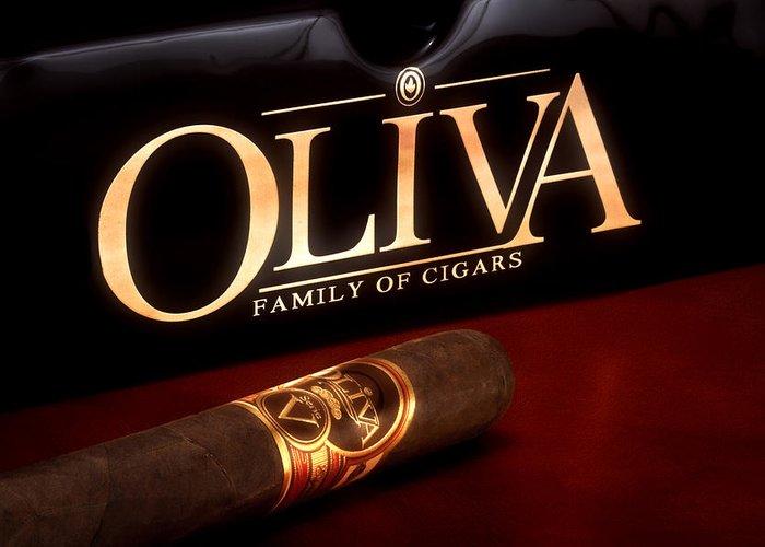 Oliva Greeting Card featuring the photograph Oliva Cigar Still Life by Tom Mc Nemar