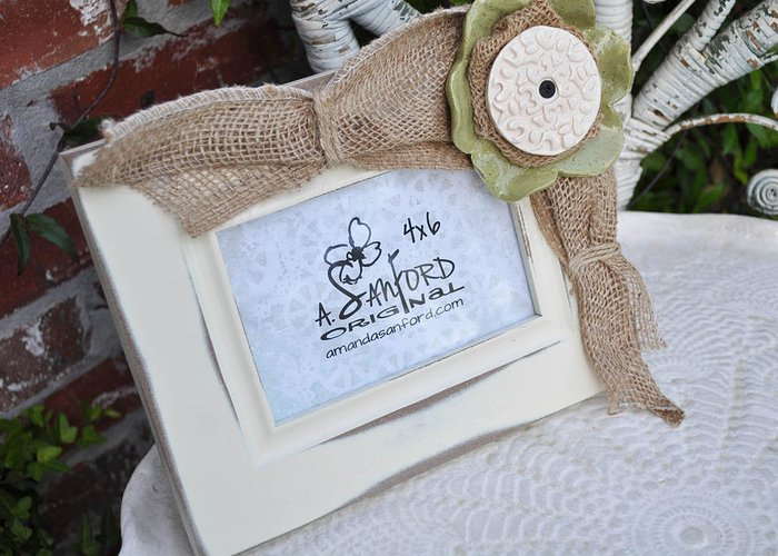 Handbuilt Greeting Card featuring the sculpture Olive In The Moment by Amanda Sanford